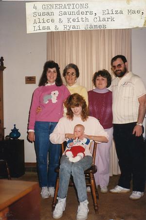 4 Generations Eliza Mae Clark