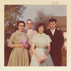 Eliza Mae, Marion, Susan & Keith Clark (1960)