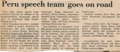 Newspaper (Ramona speech team)