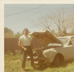 Max trying to fix car  April 1970