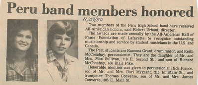Newspaper (Ramona Nov 29, 1980)