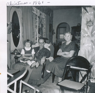 Christmas 1961 (Kay, Manson, Ethel)
