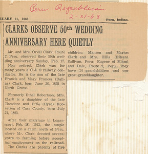 Newspaper 2-21-63 50th Observed