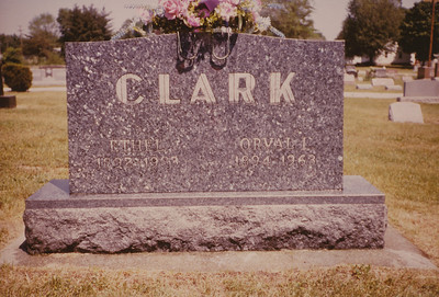 Ethel and Orval Clark Headstone