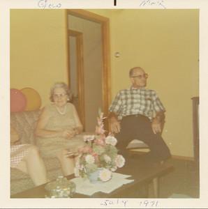 Manson & Georgine Clark 7-21-1971