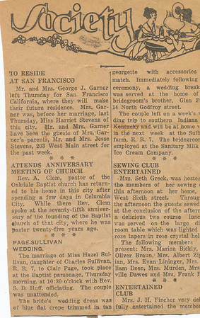 Newspaper (Society Page)
