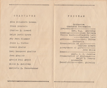 Nead School - 8th Grade Commencement Program - April 21, 1936