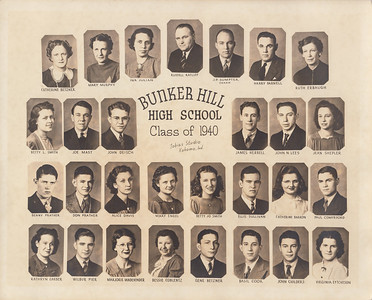 Bunker Hill High School Class of 1940