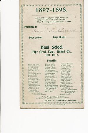 Nead School (Hazel Sullivan 1897-1898)