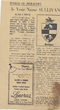 Newspaper (Is your name Sullivan)
