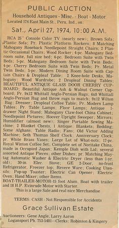 Newspaper 1974 (Grace Sullivan Estate)