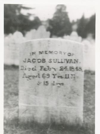 Jacob Sullivan Headstone