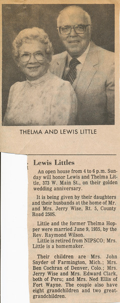 Newspaper (Thelma & Lewis Little)
