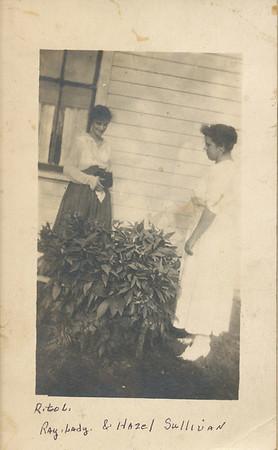 Hazel Sullivan (Front) & Ray Lady (behind bush)
