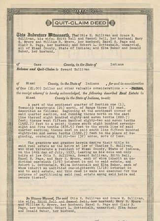 Quit-Claim Deed a (Seward Sullivan 1934)
