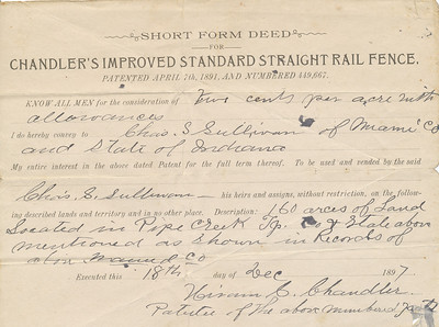Short Form Deed (to Chas S  Sullivan 1897)