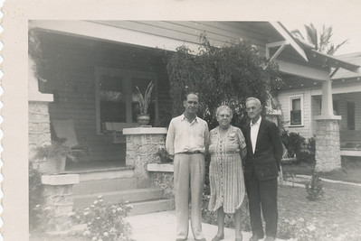 Fred Patton, his wife, and son Fred Jr (Dec 26,1949)