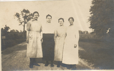 Mary, Edith & Hazel Sullivan with Mrs Ed Miller