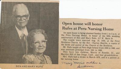 Newspaper (Ben & Mary Rufe)