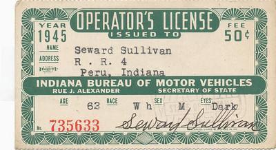 Seward Sullivan (Drivers license 1945)