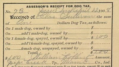 Chas Sullivan Dox Tax 1908