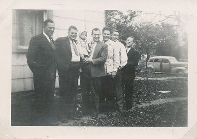 Nov 1947 Earl, Lawrence, Mike, Ellis, Leo Sullivan, Kenneth & Dallas Clark