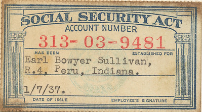 Earl Sullivan SS card