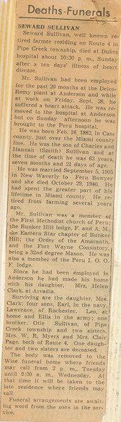 Newspaper Seward Sullivan Passes