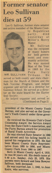 Newspaper Leo Sullivan Passes