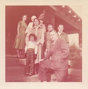 Back Row: Eileen Sullivan, Helen Clark, Jean Sullivan,  Ora Clark, Ellis Sullivan  Front Row: Orpha Sullivan, Jane Sullivan, and Earl Sullivan