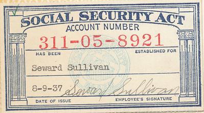 Seward Sullivan SS card