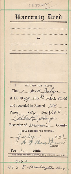 Deed to Leo Sullivan et al - 27June1949 - Page 1 of 3