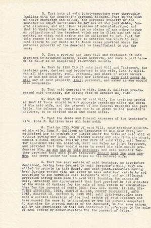 Miami County, Indiana Probate - Estate of Seward Sullivan - 1945 - Page 3 of 5