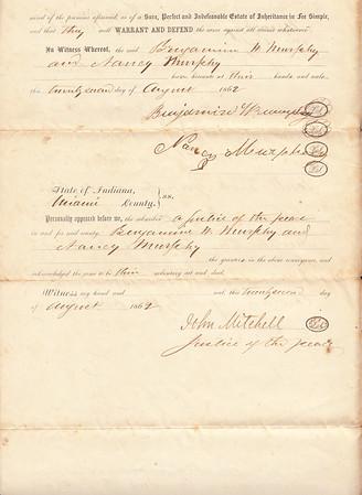 Deed to Cornelius H Sullivan - 22AUG1862 - Page 3 of 3