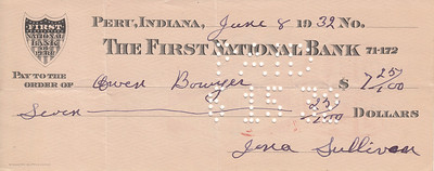 Money Order to Owen Bowyer - 08JUN1932-front