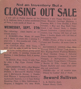 Public Sale Flier - Seward Sullivan - 27SEP1938