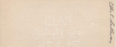 Money Order to Ellis Sullivan (Inheritance from his father) - 12SEP1946-back