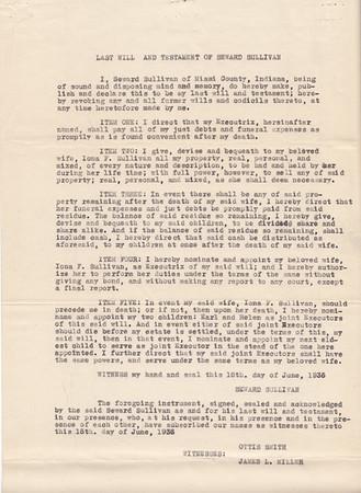 Miami County, Indiana Probate - Estate of Seward Sullivan - 1945 - Page 5 of 5