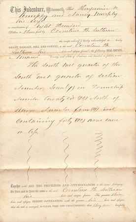 Deed to Cornelius H Sullivan - 22AUG1862 - Page 2 of 3