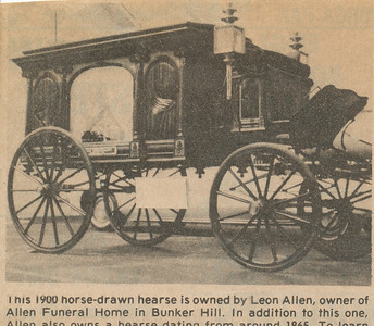 Newspaper (Horse Drawn Hearse)