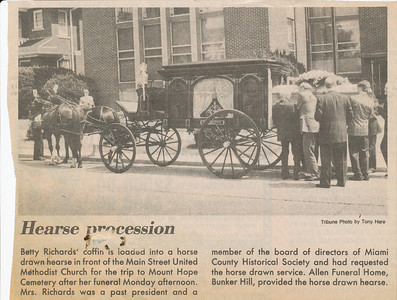 Newspaper (Hearse Procession)