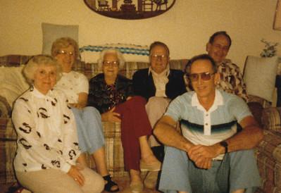 Eileen & Gene Sullivan, Helen Clark, Lawrence & Ellis Sullivan, Kenneth Clark (5-3-1985)