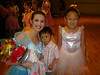 Abby and her ballet teacher (with Dillon of course) after the ballet recital.  5/29/07