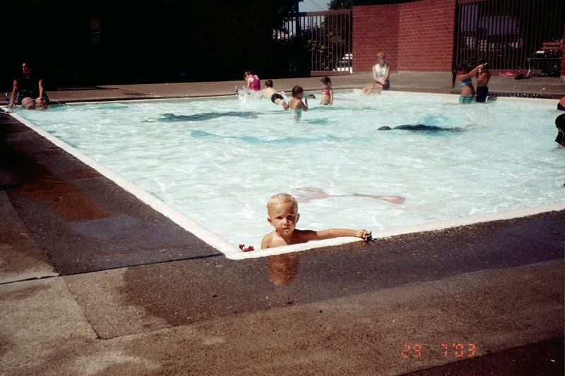 Ian had a blast at this outdoor wading pool.  Chris started to complain about it being too borring and wanted to go inside and swim in the deep pool.  but, Ian couldn't swim unless i was in the water and who was going to hold Elliot?  This was a miserable Summer with a new baby.