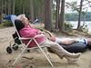 Grammy & Tom taking a snooze at Kezar lake NH