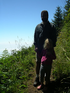 Not a good picture alas, but here is the final endpoint of our hike. It was very steep to the left!