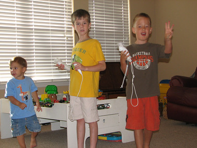 This was Hayden's first time to play the Wii.  He's a natural...beating everyone right away.