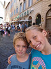 Giolitti-happy faces in front of largest Gelatteria