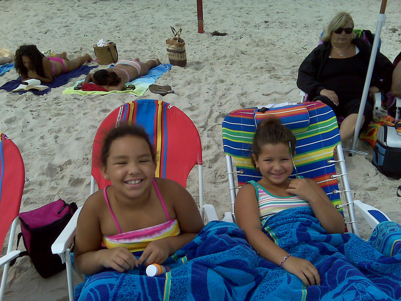TOBAY Beach with Andriana:  August 2010