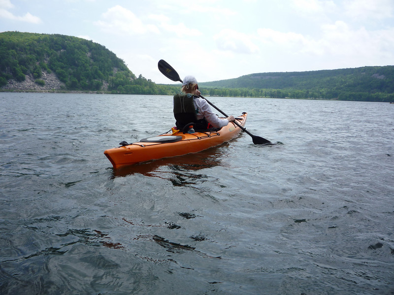 Brad swam and I paddled next to him. He took this picture while taking a break on shore.